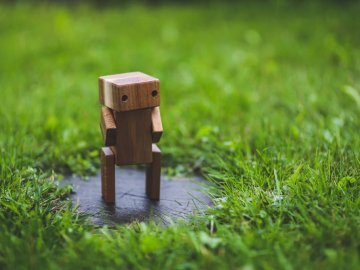 robotisering mens en machine staan samen sterker