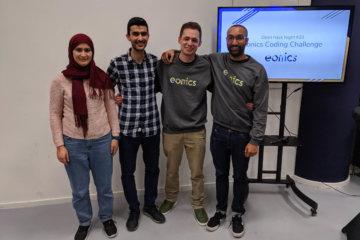 De winnaars van Eonics coding challenge